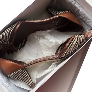 Si By Sinela Leather Summer Heels